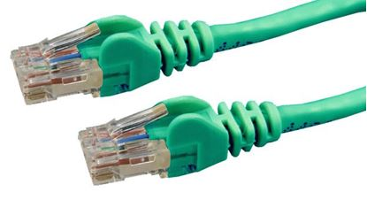 Picture of DYNAMIX 2m Cat6 Green UTP Patch Lead (T568A Specification) 250MHz