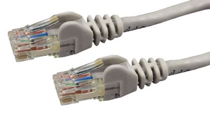 Picture of DYNAMIX 0.3m Cat6 Grey UTP Patch Lead (T568A Specification) 250MHz