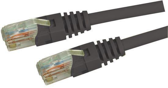 Picture of DYNAMIX 15m Cat5e Black UTP Patch Lead (T568A Specification) 100MHz