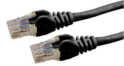 Picture of DYNAMIX 0.5m Cat6 Black UTP Patch Lead (T568A Specification) 250MHz
