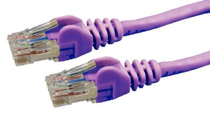 Picture of DYNAMIX 1m Cat6 Purple UTP Patch Lead (T568A Specification) 250MHz