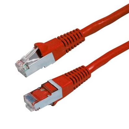Picture of DYNAMIX 0.3m Cat6A Red SFTP 10G Patch Lead. (Cat6 Augmented) 500MHz