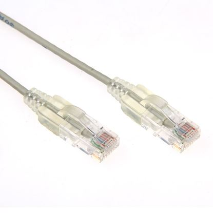 Picture of DYNAMIX 0.75m Cat6A 10G Grey Slimline Component Level UTP