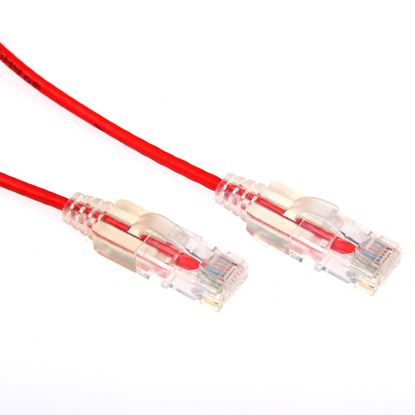 Picture of DYNAMIX 0.25m Cat6A 10G Red Slimline Component Level UTP