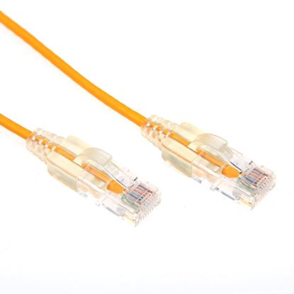 Picture of DYNAMIX 1M Cat6 Yellow Slimline Component Level UTP Patch Lead