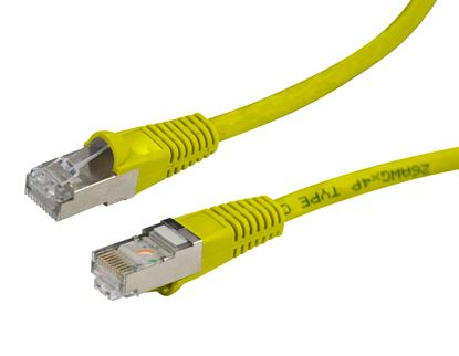 Picture of DYNAMIX 1m Cat6A Yellow SFTP 10G Patch Lead. (Cat6 Augmented) 500MHz