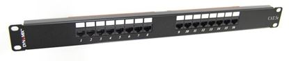 "Picture of DYNAMIX 16 Port 19"" Cat5e UTP Patch Panel, T568A & T568B"