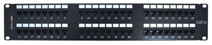 "Picture of DYNAMIX 48 Port 19"" Cat5e UTP Patch Panel, T568A & T568B"