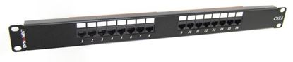 "Picture of DYNAMIX 16 Port 19"" Cat6 UTP Patch Panel, T568A & T568B"