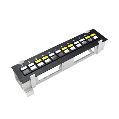 Picture of DYNAMIX Mini 12 Port Unloaded Keystone Patch Panel