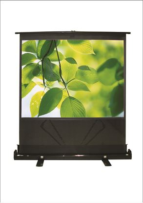 "Picture of BRATECK 100"" Projector Screen Floor Stand. 4:3 Aspect ratio."