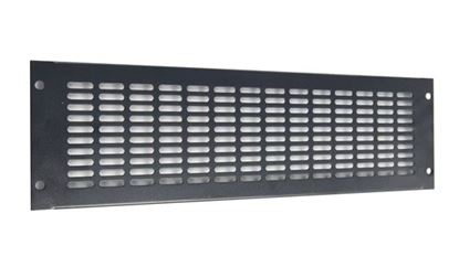 Picture of DYNAMIX 3RU Vented Blanking Panel. Black Colour