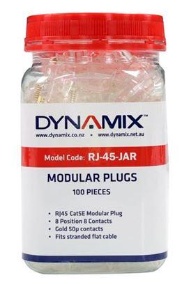 Picture of DYNAMIX RJ45 Plug 100pc Jar, 8P8C Modular Plug (Flat, Stranded).