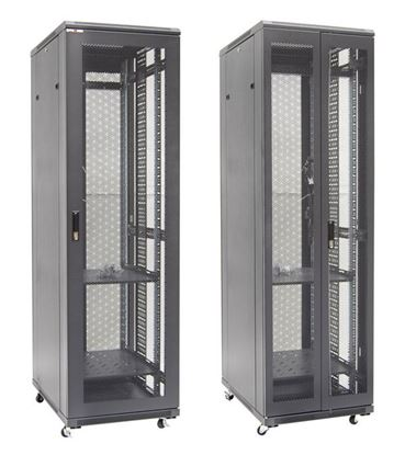 Picture of DYNAMIX 42RU Server Cabinet 1000mm Deep Front Mesh Door, Rear mesh