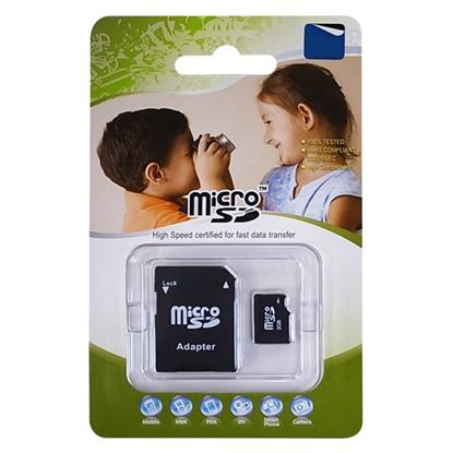 Picture of 8GB Micro SD High-Speed Certified Flash Card with Adapter