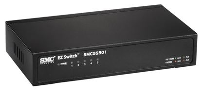 Picture of SMC 5 Port Gigabit Unmanaged Switch 10/100/1000Mbps. Compact desktop