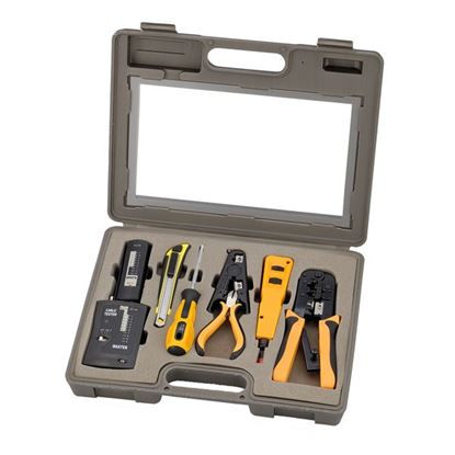Picture of SPROTEK 10 Piece Network Installation Tool Kit.