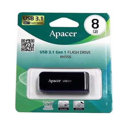 Picture of Apacer 8GB USB 3.1 Gen 1 Super Speed Flash Drive. Strap hole,