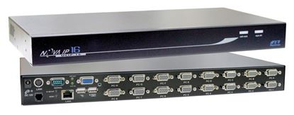 Picture of REXTRON 1 Port IP KVM Switch plus 16x port USB & PS2x KVM switch