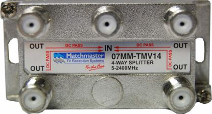 Picture of MATCHMASTER RF Splitter 4-Way 5~2050MHz, F-Type, Power Pass