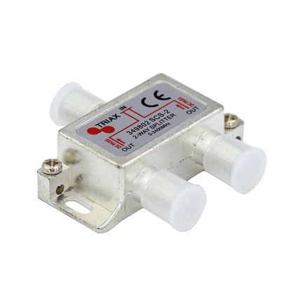 Picture of TRIAX RF 2-Way Splitter, 5~2400MHz. All ports power pass -