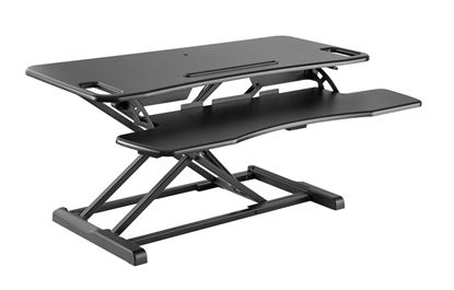Picture of BRATECK Sit-Stand Desktop Workstation Stand. Gas-Spring