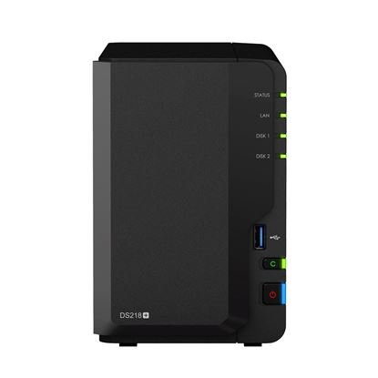 Picture of SYNOLOGY DS218+ RtG 2-Bay Bare Bone NAS, Dual Core Celeron J3355