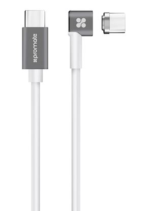 Picture of PROMATE USB-C to USB-C Magnetic Break Safe Charging Cable with