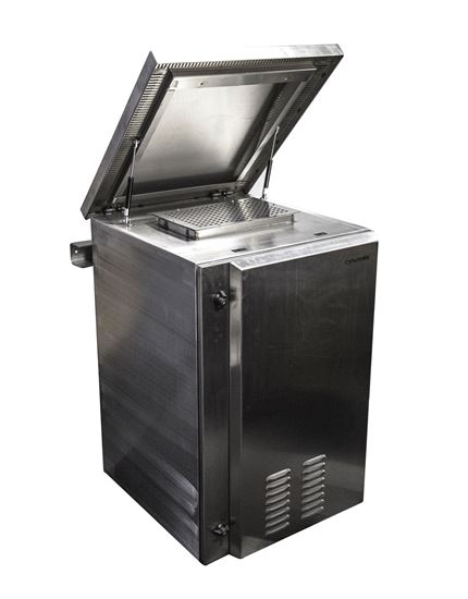 Picture of DYNAMIX 9RU Stainless Vented Outdoor Wall Mount Cabinet (611 x