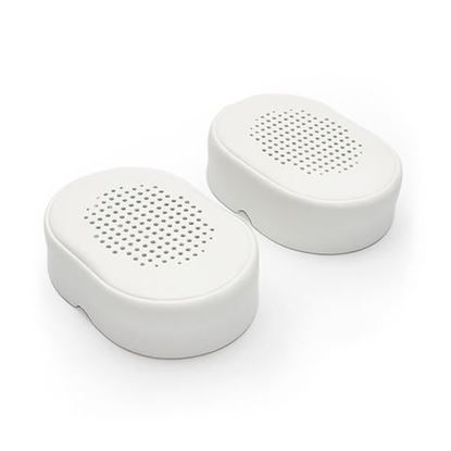 Picture of Kef M500 Headphone Replacement Ear Pads. White colour. Sold as a