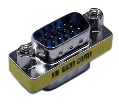 Picture of DYNAMIX HD DB15 VGA Male/Male Mini Gender Changer