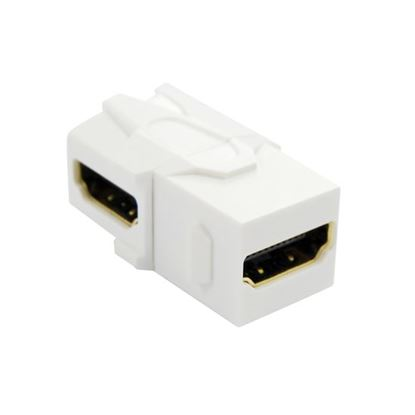 Picture of DYNAMIX HDMI 90 Keystone Jack. High-Speed with Ethernet Rated.