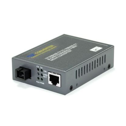 Picture of CTS RJ45 to SC Single-Mode WDM Converter. RX:1310nm TX:1550nm.
