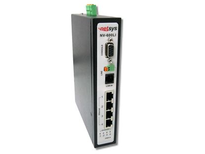 Picture of NETSYS Managed Industrial VDSL2 CO Router. 4x RJ45 10/100Mbps.