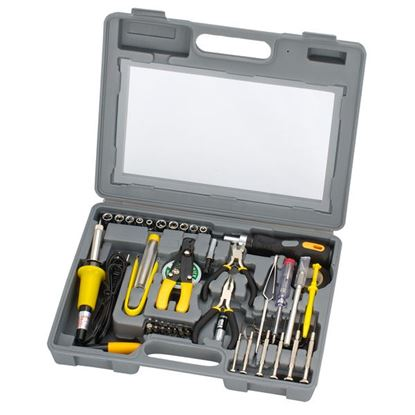 Picture of SPROTEK 56 Piece Computer Tool Kit Includes Reversible ratchet handle,
