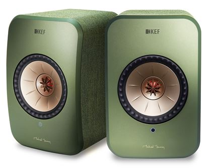 Picture of KEF LSX Wireless Mini Monitor Speakers. 4' Uni-Q driver, wireless