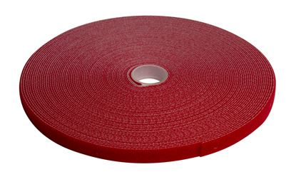 Picture of DYNAMIX Hook & Loop Roll 20m x 12mm dual sided, RED colour.