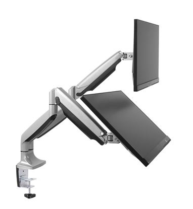 """Picture of BRATECK 13""""-32"""" Dual Interactive Counter Balance Monitor Desk Mount."""