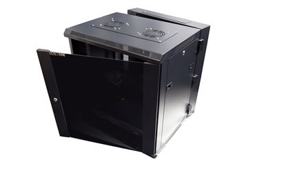 Picture of DYNAMIX 4RU Universal Swing Wall Mount Cabinet. Removable Back mount