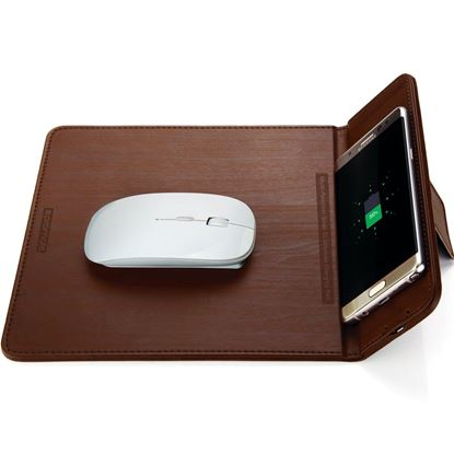 Picture of PROMATE Multi-Function Sleek Qi Wireless Charging Pad. Qi charger