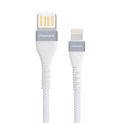 Picture of PROMATE 1.2m USB-A to Lightning Connector Cable. Highly Durable