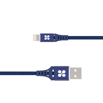 Picture of PROMATE 1.2m MFi Ultra-Slim USB-A to Lightning Connector Cable. Apple
