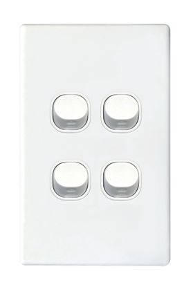 Picture of TRADESAVE 16A 2-Way Vertical 4 Gang Switch. Moulded in Flame Resistant