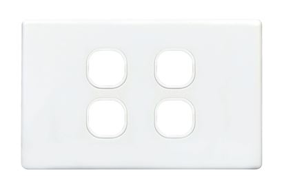 Picture of TRADESAVE Switch Plate ONLY. 4 Gang Accepts all Tradesave Mechanisms.