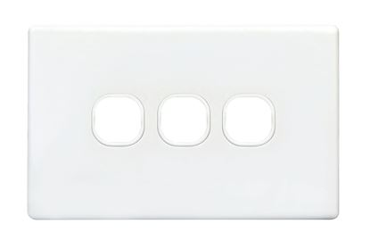 Picture of TRADESAVE Switch Plate ONLY. 3 Gang Accepts all Tradesave Mechanisms.
