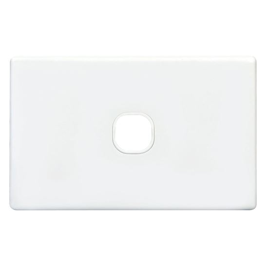 Picture of TRADESAVE Switch Plate ONLY. 1 Gang Accepts all Tradesave Mechanisms.