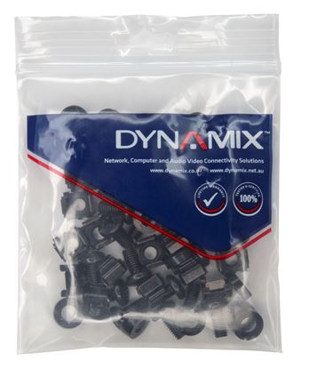 Picture of DYNAMIX 30pc Pack, 3 Piece Cage Nut, Black M6*15mm.