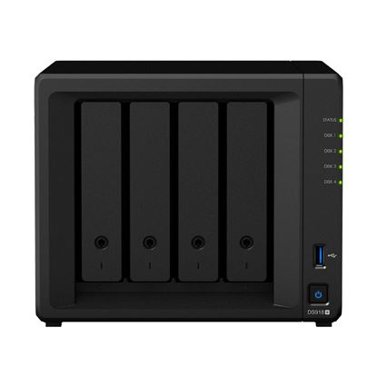 Picture of SYNOLOGY DS918+ RtG 4-bay NAS System. Quad Core Celeron J3455