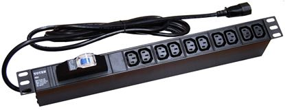 Picture of DYNAMIX Power Rail - Horizontal 10 Position 10A, IEC (IEC320-