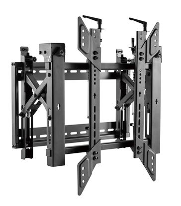 """Picture of BRATECK 45""""-70"""" Pop-Out Portrait Video Wall Bracket. Max Load: 70kg"""